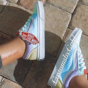 Customs multicolor vans